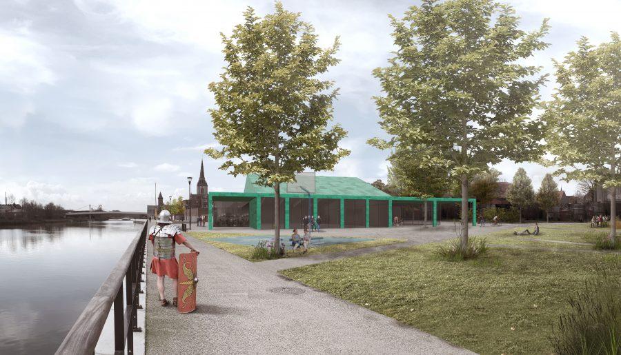 visualisatie Stadshal Wervik - site Oosthove