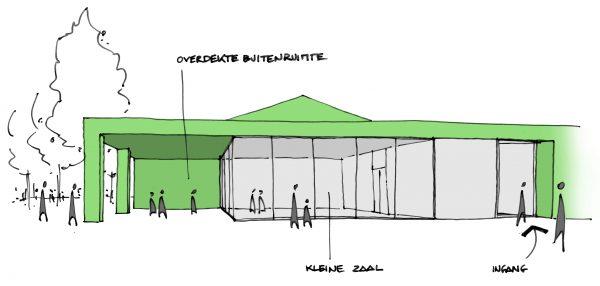 BCQ architecten - Site Oosthove - Wervik schets 1