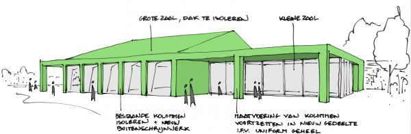 BCQ architecten - Site Oosthove - Wervik schets 2
