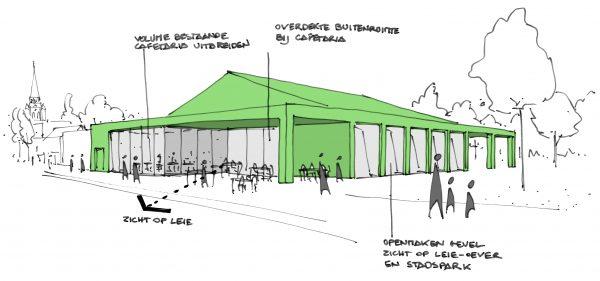 BCQ architecten - Site Oosthove - Wervik schets 3