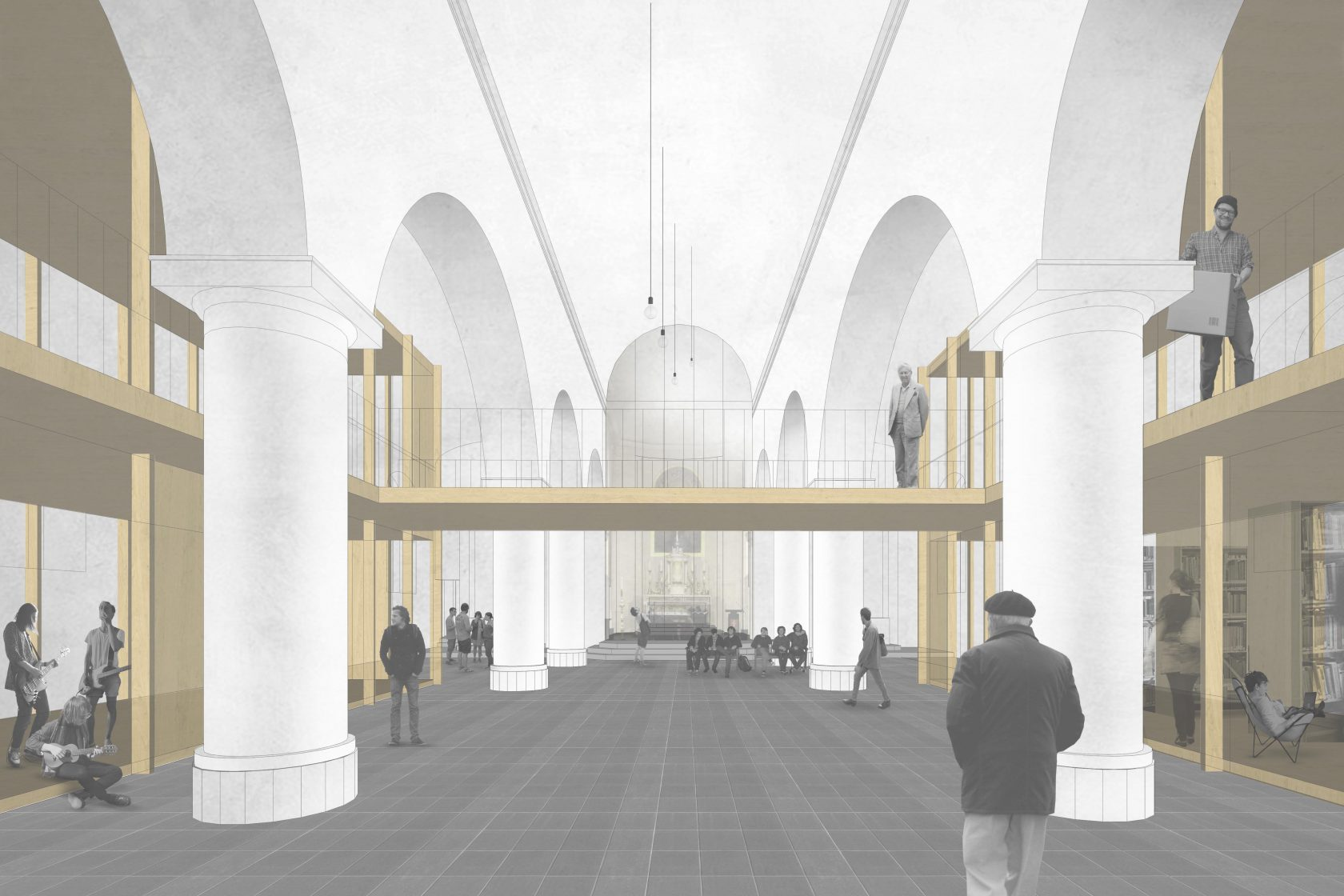 BCQ architecten & ARC - sfeerbeeld kerk 01 Aalbeke