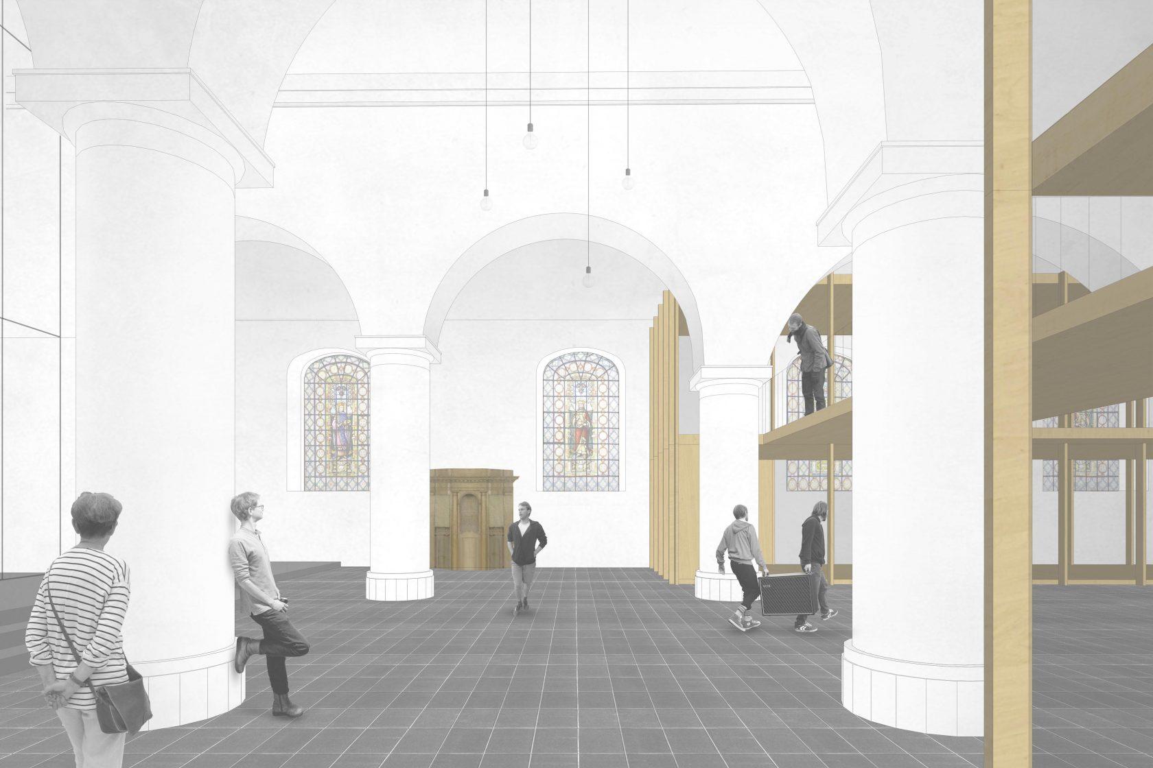 BCQ architecten & ARC - sfeerbeeld kerk 02 Aalbeke