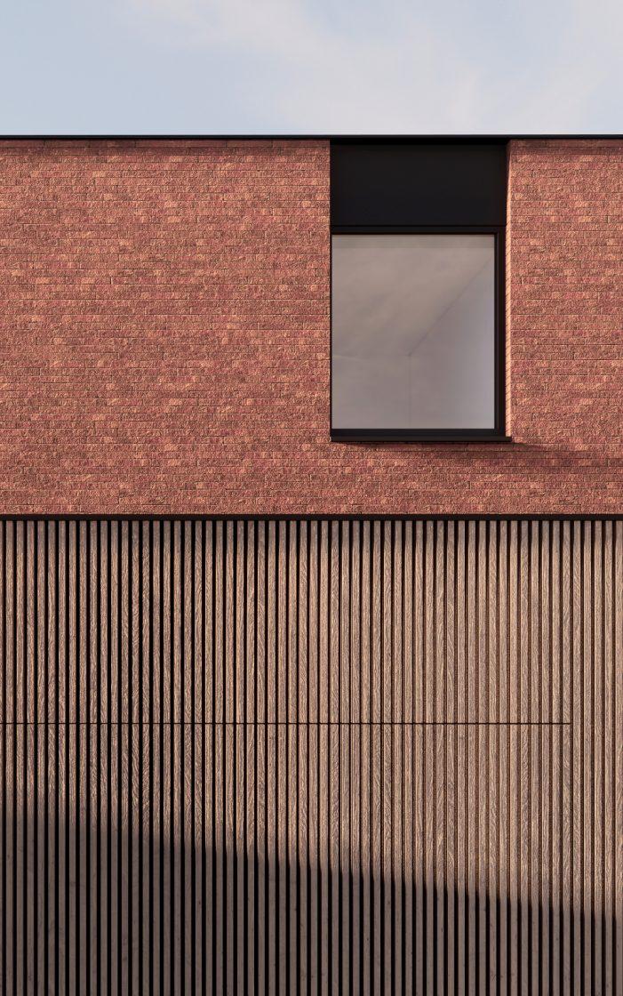BCQ ARCHITECTEN – Woning Voorgevel Detail